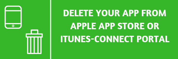 Delete your app from apple app store or iTunes-Connect portal